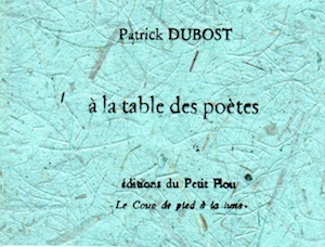 table des poetes